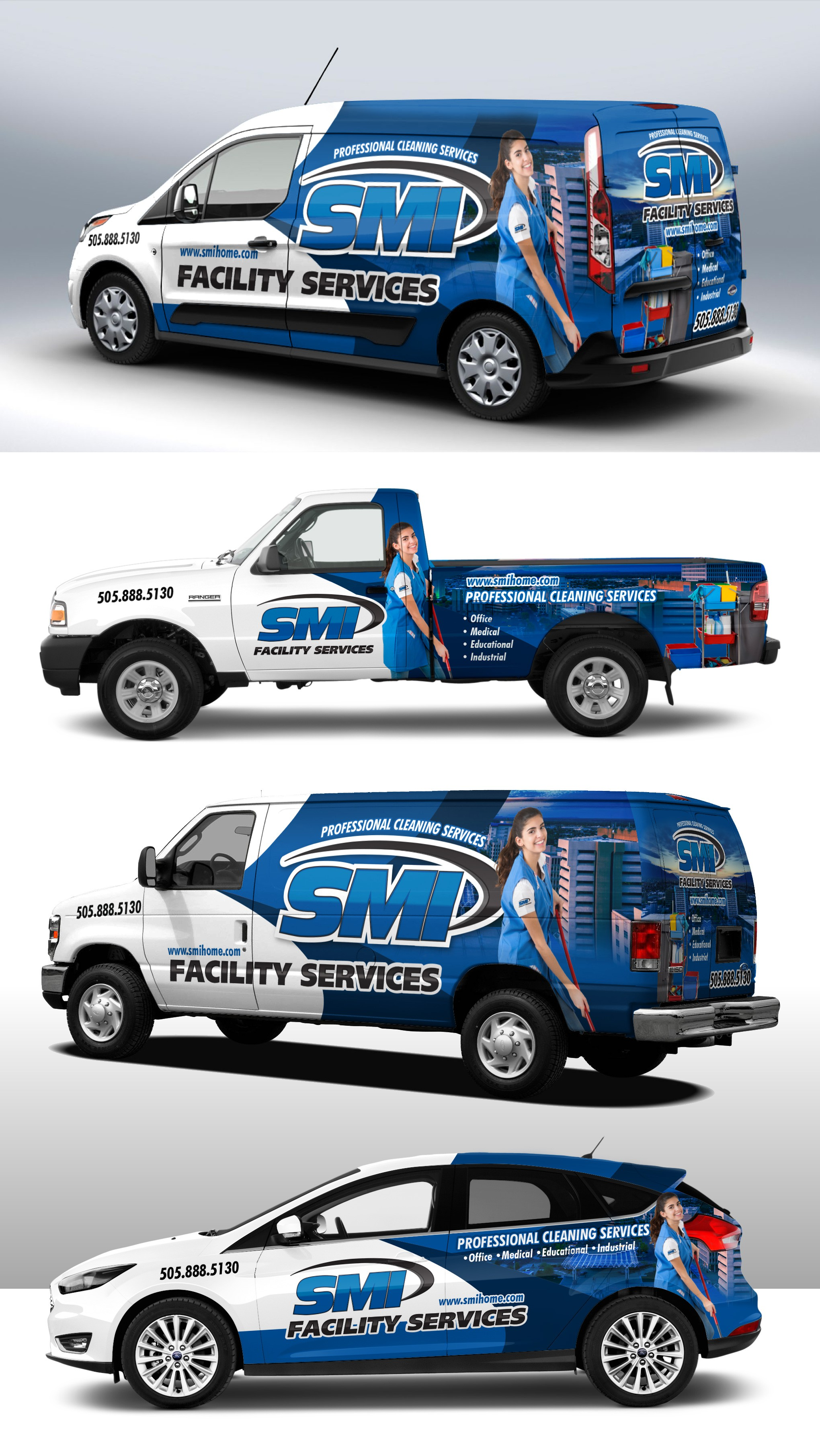 SMI Company vehicle wrap