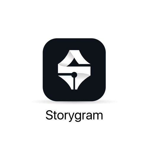 Clean and meaningfull icon design for storygram