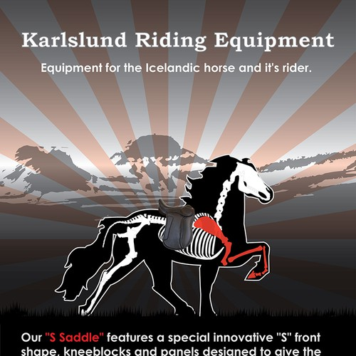 Create the next art or illustration for Karlslund Riding Equipment