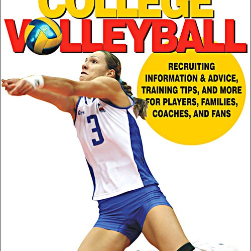Volleyball book cover design