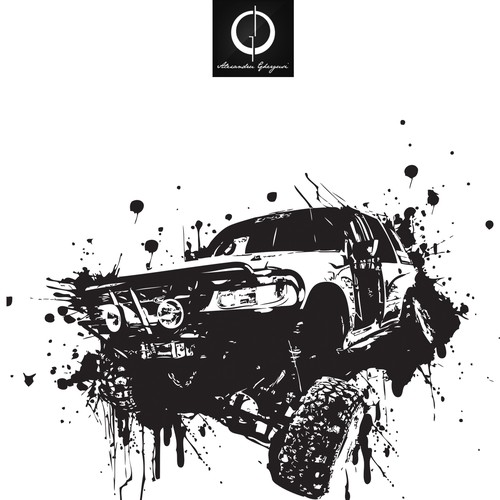 Four wheel driving tshirt design - almost free reign