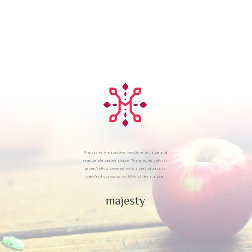 Illustrative, authentic and freshy logo design and brand guide for our new apple varieties
