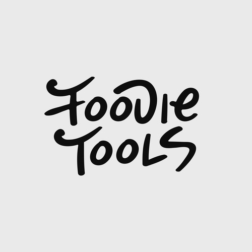 Hand-drawn logo design for Foodie Tools