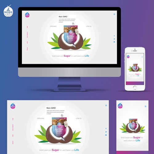 Website for NU3BIO coconut sugar