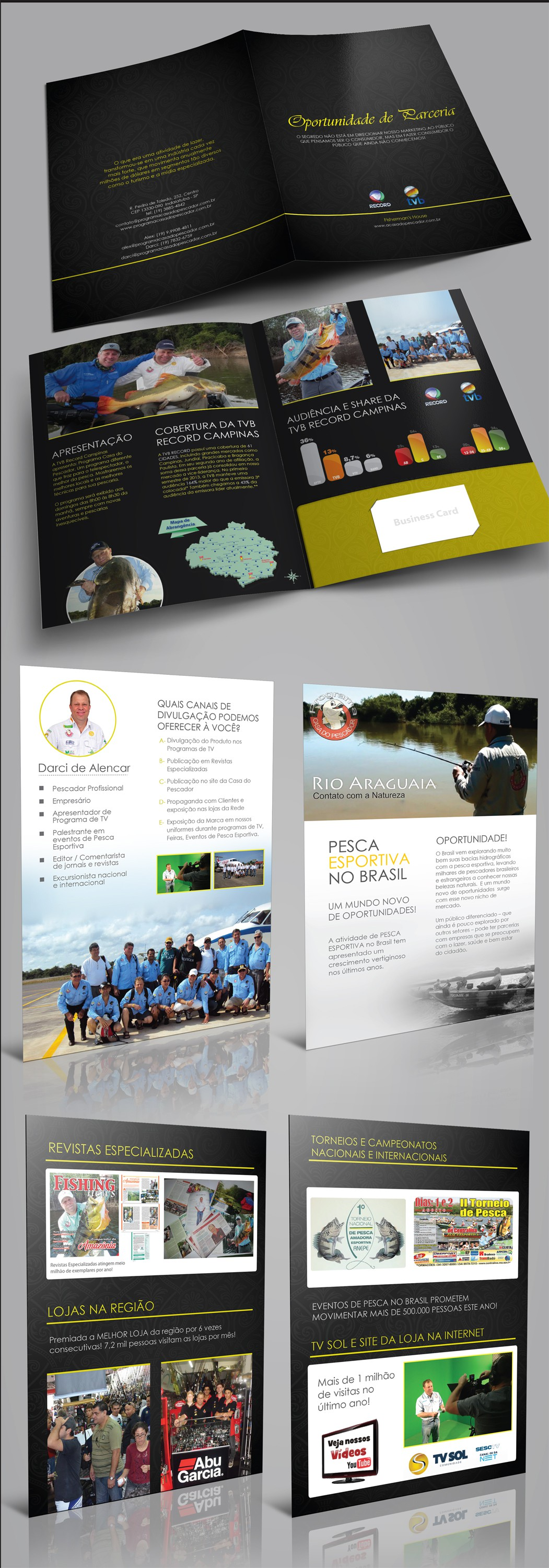 Folder For Fundraising And Sponsorship | Sport Fishing Company