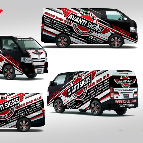 A Toyota Van Wrap Design for a Sign Company ! B sEEN , Get Known .