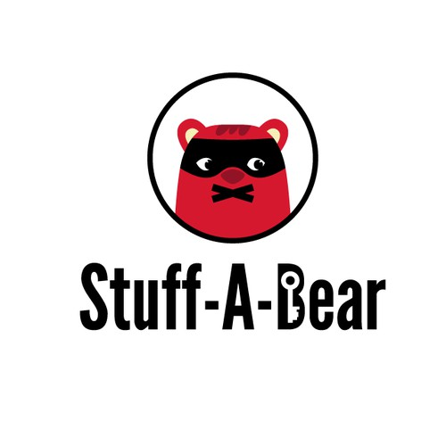 Secretive teddy bear logo