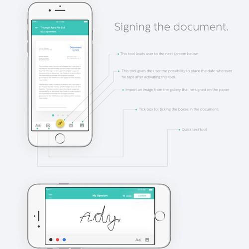 Signature App Design