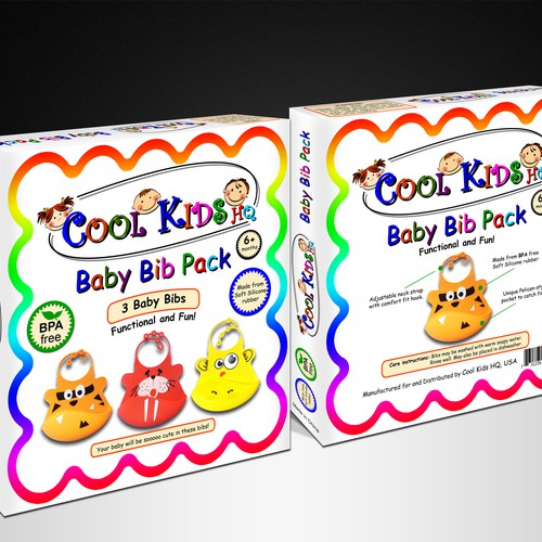 Baby Bib packaging design