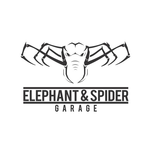 Elephant & Spider Garage Logo