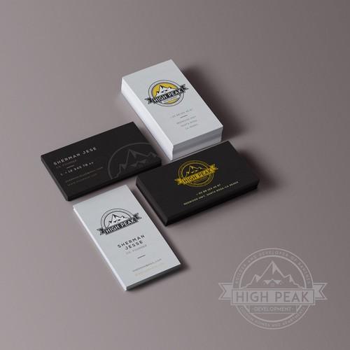 Logo & Business Card Design For High-Peak Development