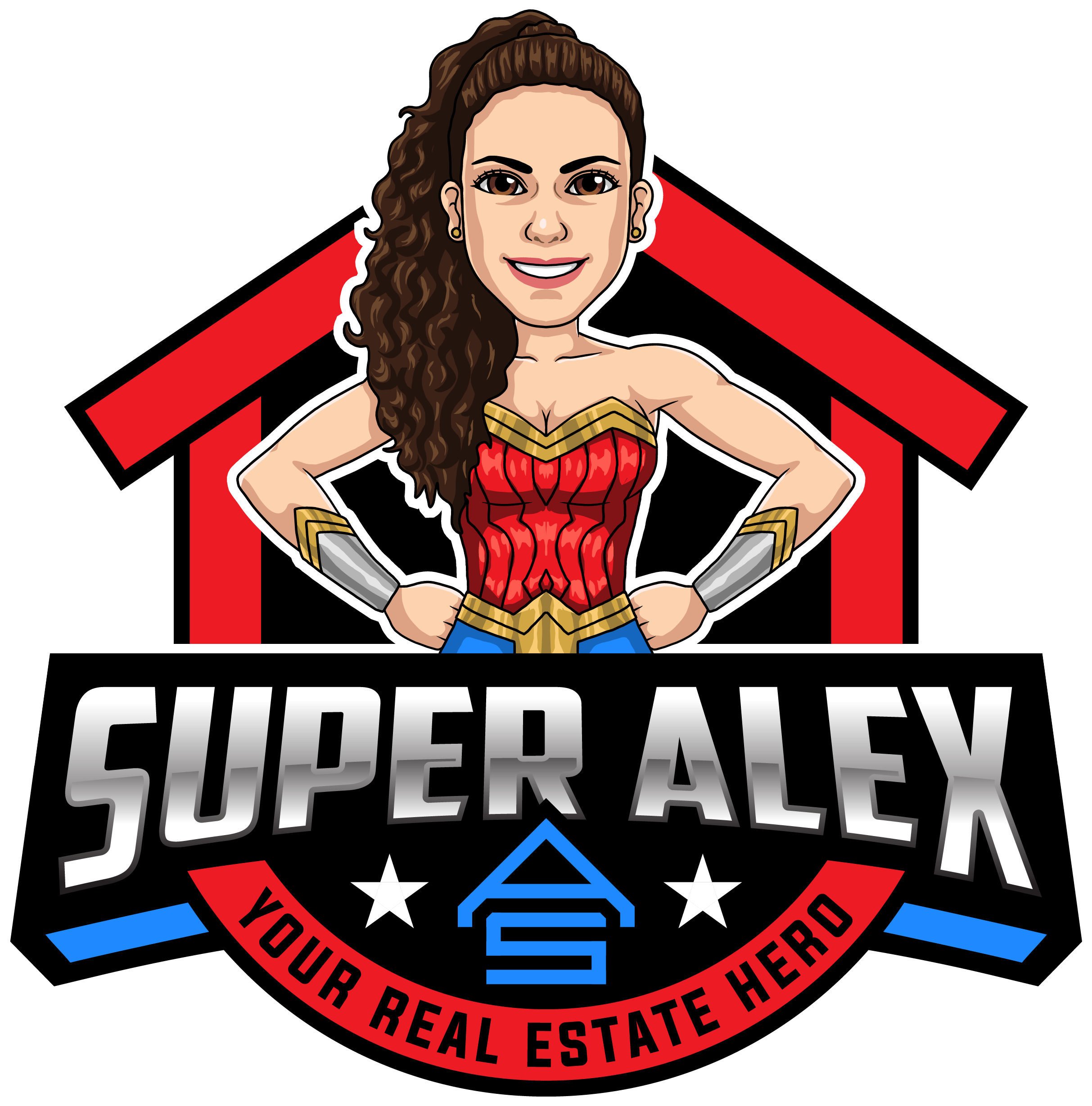 Design a POWERFUL logo for a Super Hero Realtor