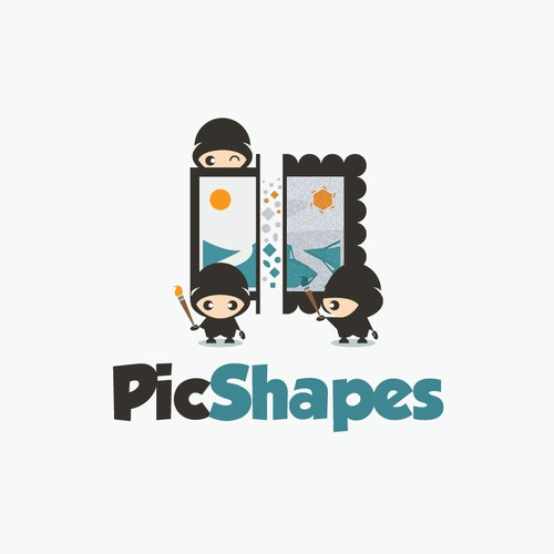 Logo for PicShapes that turns any original picture to shaped art.