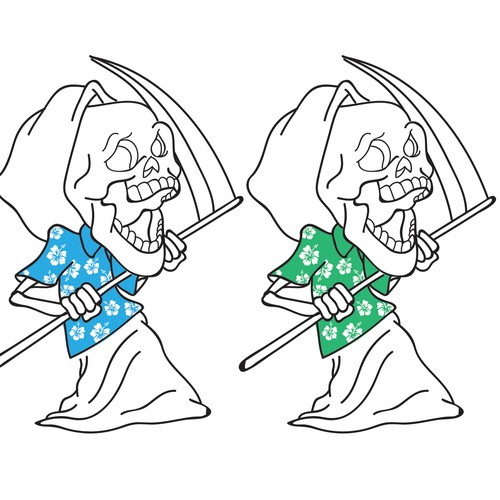 Skeleton charactor