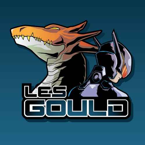 sci fi logo for author les gould