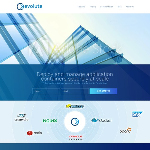 Evolute.io Webdesign