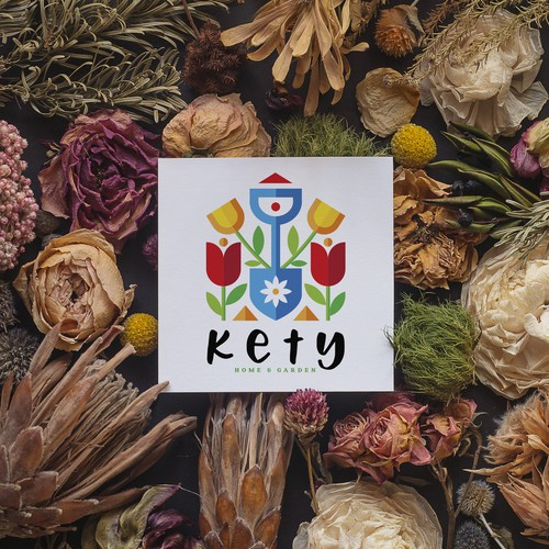 """KETY - home and garden"" logo design and branding"