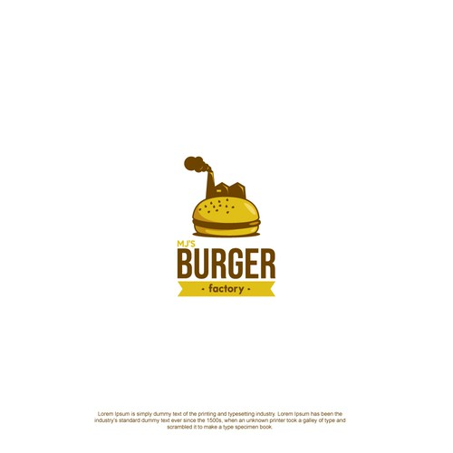 Mj's Burger Factory logo concept