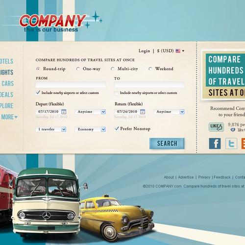 Fun Vintage / Retro Web Design for Travel Site!