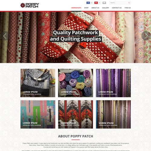 Poppy Patch Home Page Design