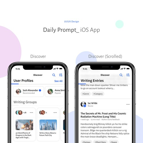 Daily Prompt iOS App UI/UX Design