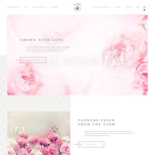 MyRose web page