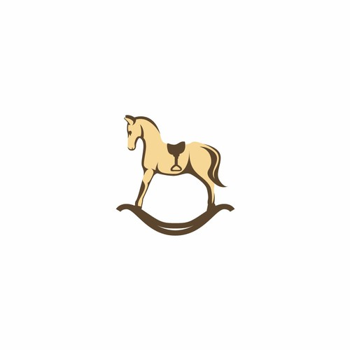 logo concept for rocking horse