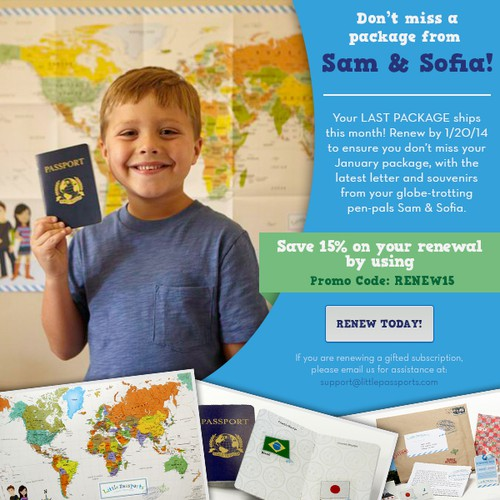 Little Passport Renewal Banner