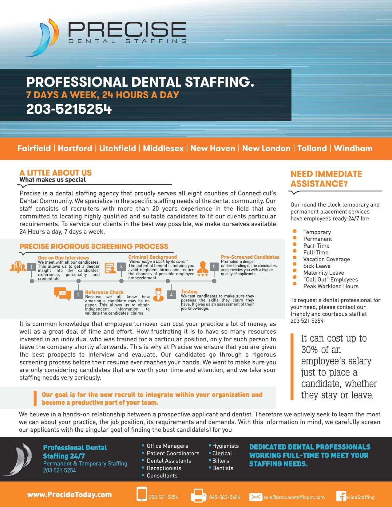 Precise Dental Staffing Ct Newsletter