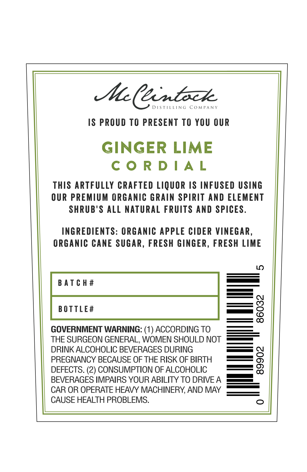 New Cordial (Ginger Lime)