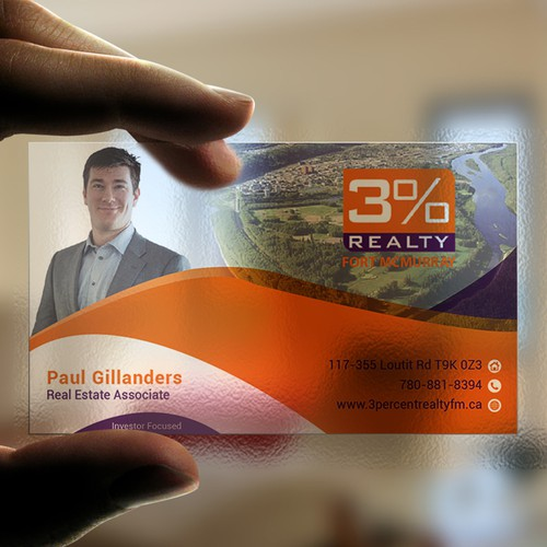 visually appealing business card for a new realtor