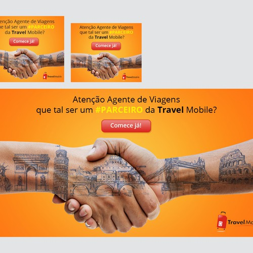 Travel mobile banners