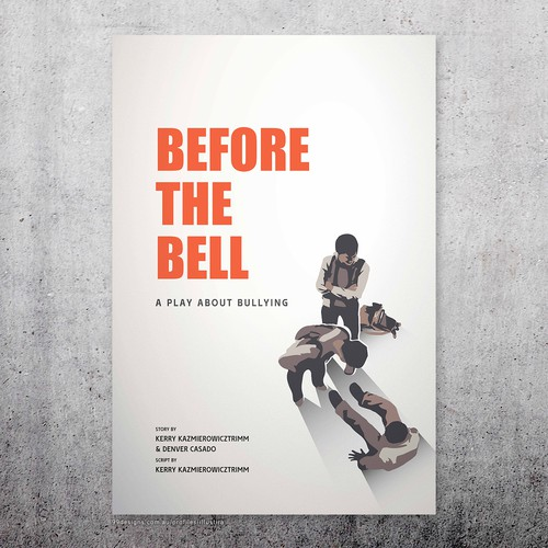 "Poster Art for Stage Play ""Before the Bell"""