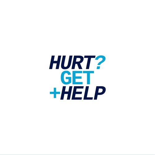 Logo concept for 'Hurt? Get Help'