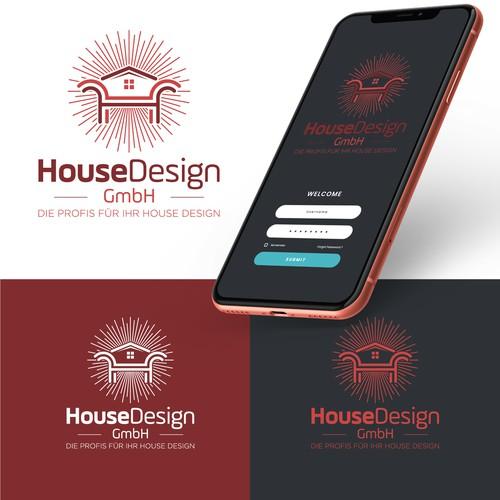 Strong logo concept for House Design GMBH