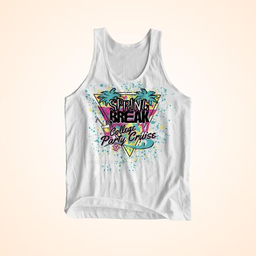 90s Spring Break shirt design