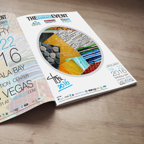 Create a Colorful Print Ad for a Beautiful Int'l Floor Tile & Stone Tradeshow