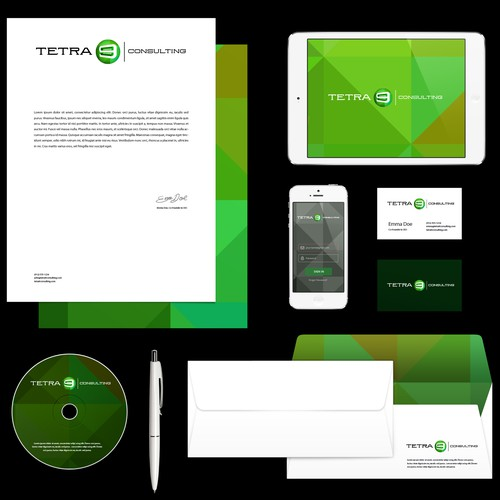 corporate materials and logo