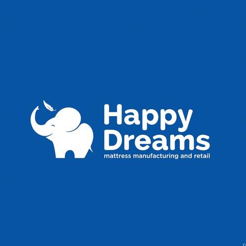MATTRESS company HAPPY DREAMS logo design