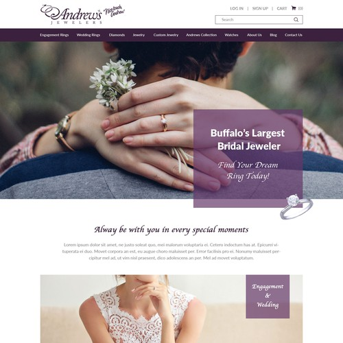 Jewelry Company Website