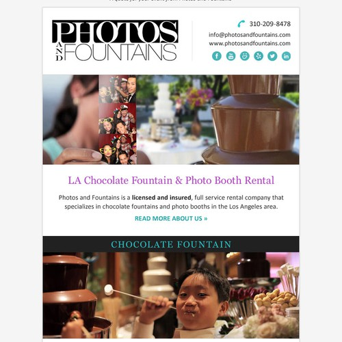 Email design for Photos and Fountains
