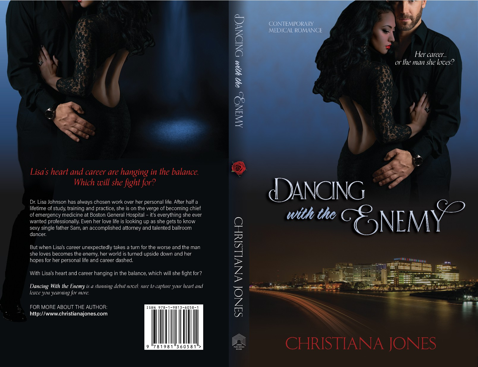 Design cover for Dancing with the Enemy - Romantic Comedy Novel