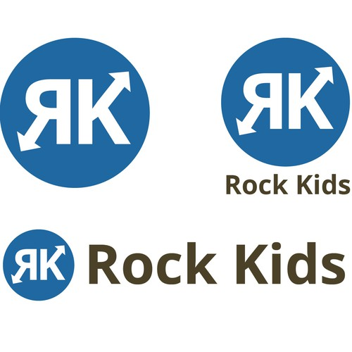 Design a fun, energetic Sunday school logo for Rock Kids (for ages 5 -10 years old)