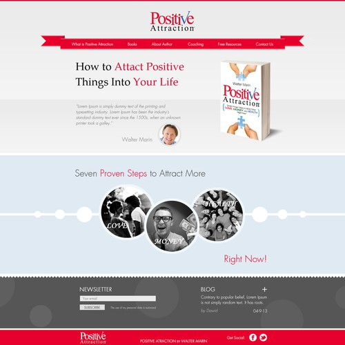 Nice and Clean Website Design Needed for New Book *****