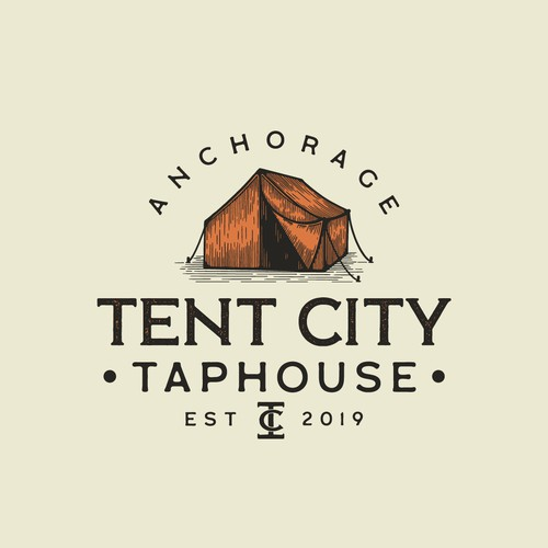 Tent City logo concept🏕