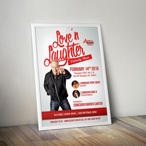 Love and Laughter comedy show event flyer