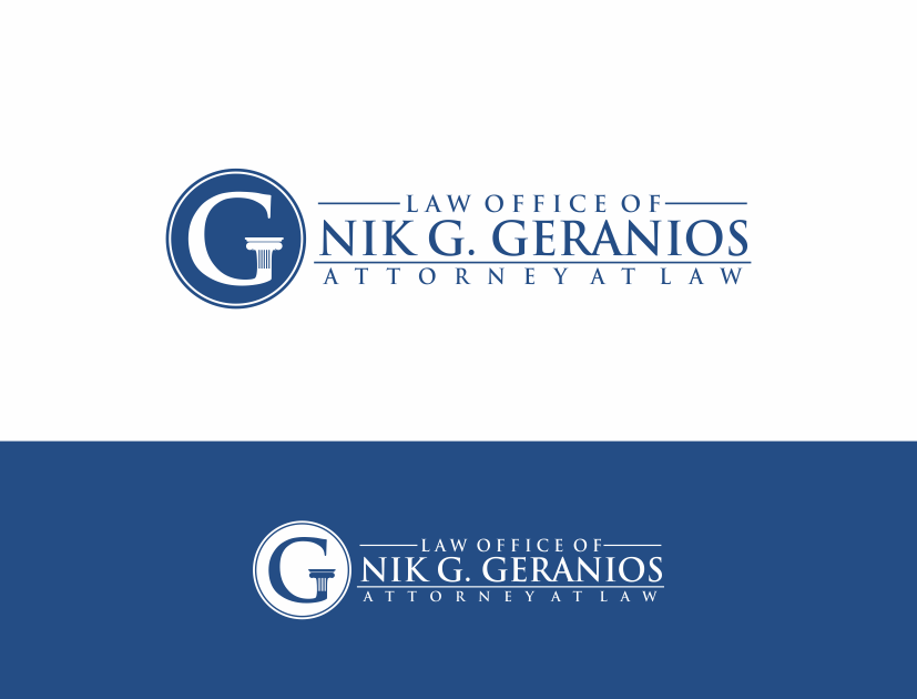 """New logo wanted for Geranios Law PLLC, or """"Nik G. Geranios, Attorney at Law, PLLC"""" or variations thereof."""
