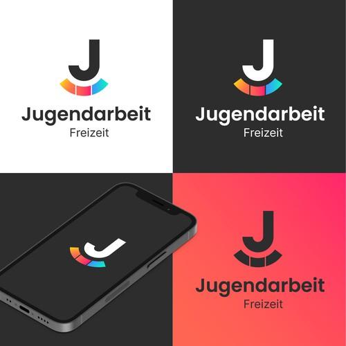 Minimal logo concept for JUGENDARBEIT