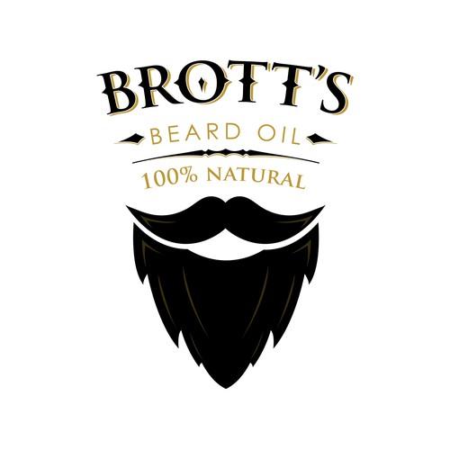 Brott's beard oil logo design