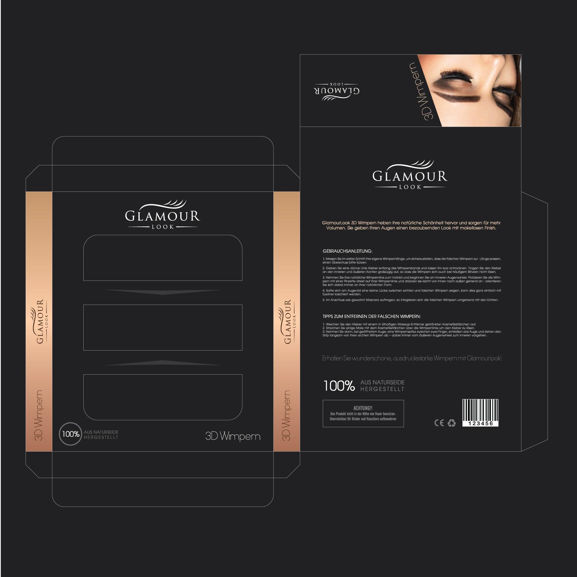 GlamourLook Wimpern brauchen ein Verpackungsdesign
